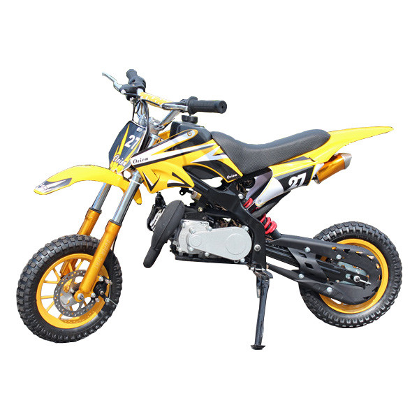 Mini-Dirt-Bike-Scrambler-Mini-Motor-Cross-49cc-Yellow