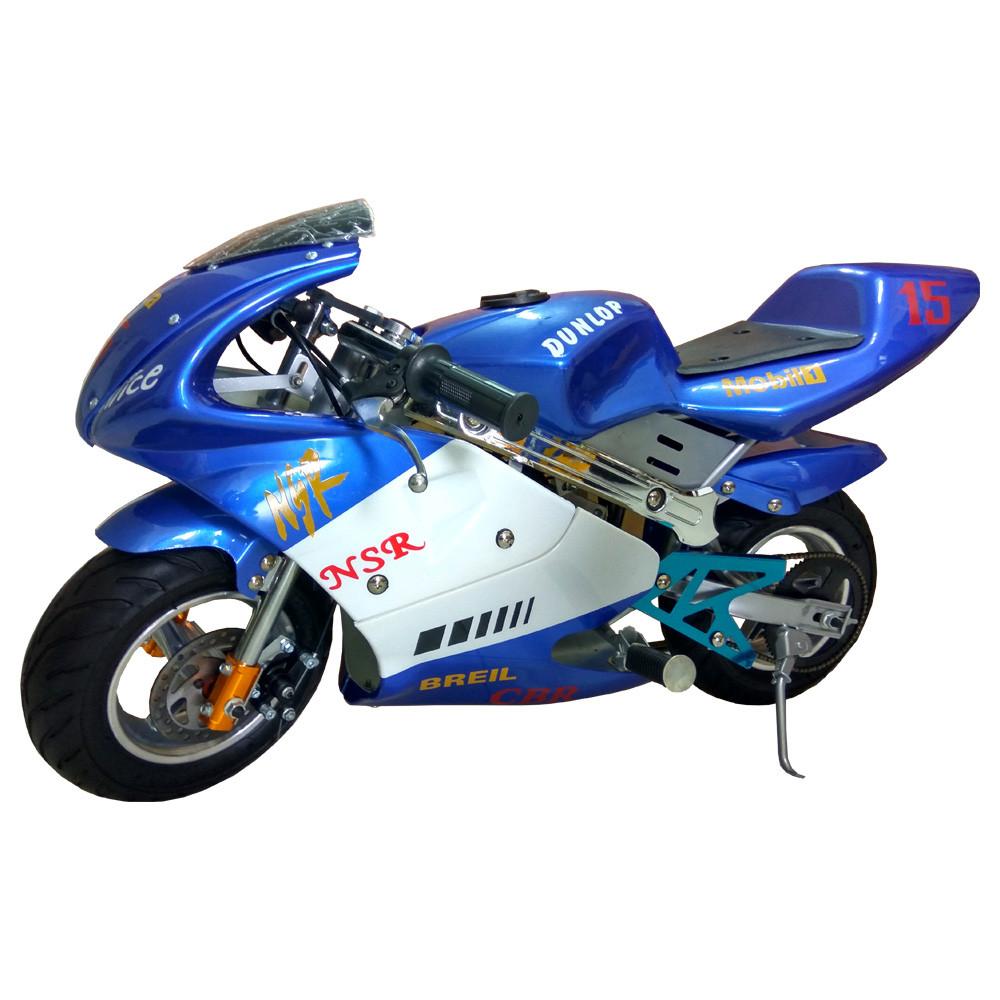 mini bike pocket bike blue color 49cc dc 39 outdoorsports. Black Bedroom Furniture Sets. Home Design Ideas