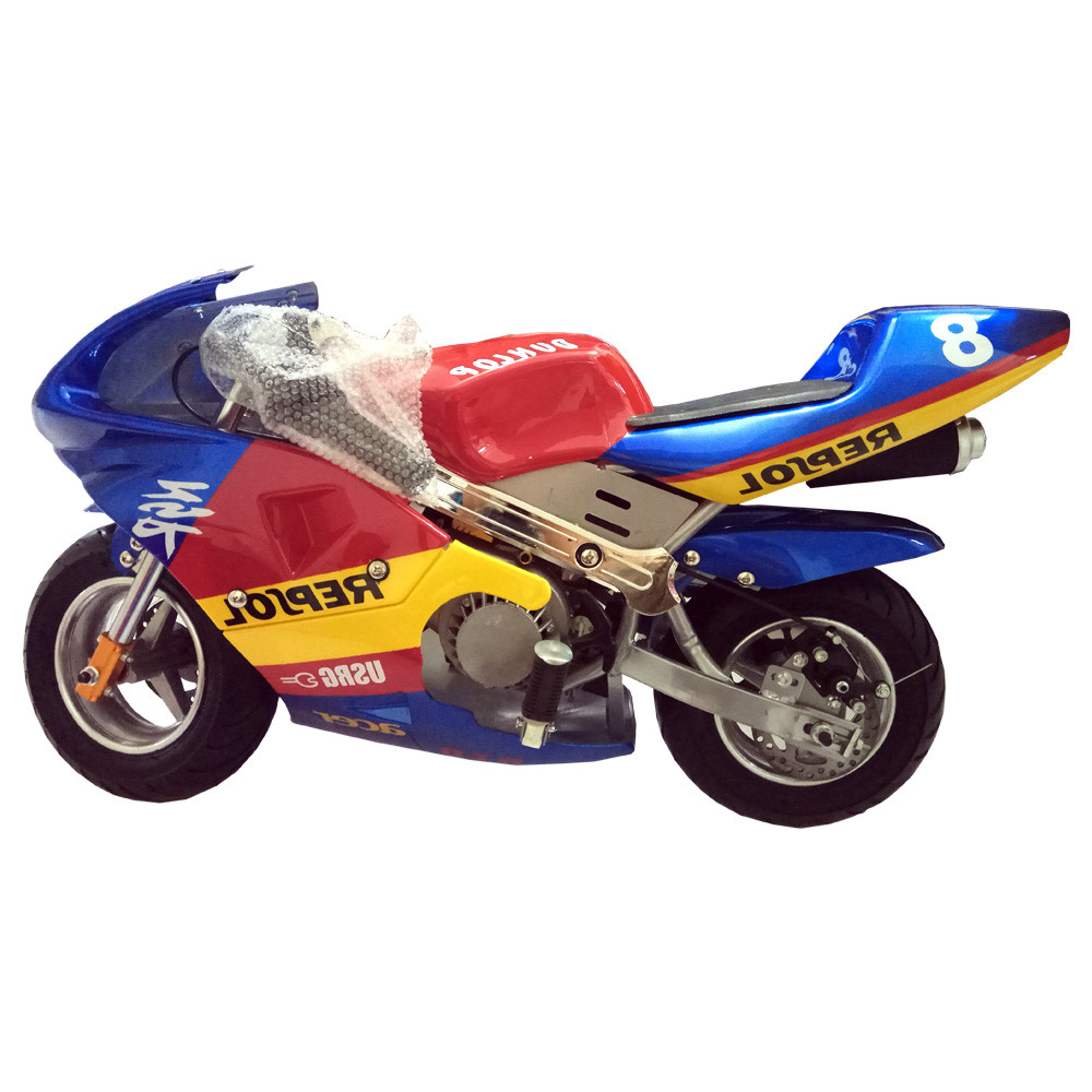 mini bike pocket bike red blue yellow 49cc dc 39 outdoorsports. Black Bedroom Furniture Sets. Home Design Ideas