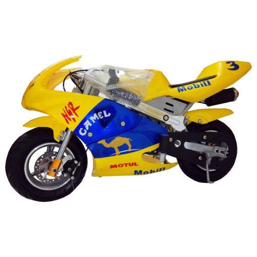 Mini Pocket Sport Bike 49cc Yellow Color