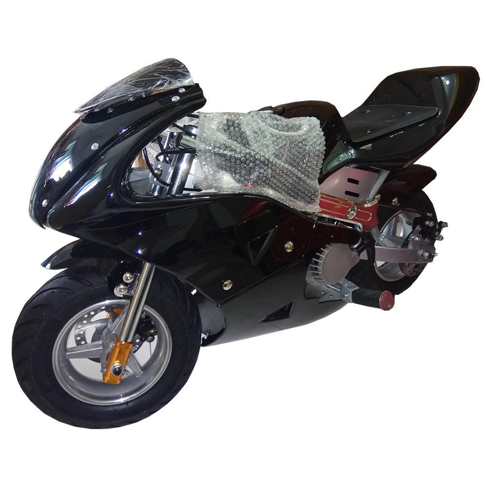 mini bike pocket bike pure black color 49cc dc. Black Bedroom Furniture Sets. Home Design Ideas